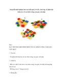Sáng kiến kinh nghiệm môn toán mẫu giáo 4-5 tuổi – bài 6 dạy trẻ phân biệt hình tròn với các hình vuông, tam giac, chữ nhật