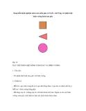 Sáng kiến kinh nghiệm môn toán mẫu giáo 4-5 tuổi – bài 9 dạy trẻ phân biệt hình vuông hình tam giác