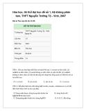 Đề thi trắc nghiệm hóa học - đề 24