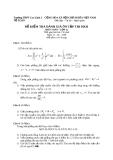 Đề kiểm tra môn toán học kì 2 môn toán 12