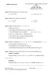 Đề thi thử học môn toán - THPT MÊ LINH