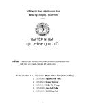 Đề tài : Phân tích các tác động của chính sách bảo trợ mậu dịch của Việt Nam và ý nghĩa của vấn đề nghiên cứu