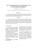 PHÂN TÍCH SƠ ĐỒ TÍNH TOÁN CẦU VÒM BÊ TÔNG CỐT THÉP ANALYZING OF THE CALCULATING MODEL OF THE CONCRETE ARCH BRIDGE