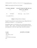 Mẫu số 4. Công văn gửi lấy ý kiến Thành viên Chính phủ