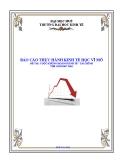 """BÁO CÁO THỰC HÀNH KINH TẾ HỌC VĨ MÔ """" CUỘC KHỦNG HOẢNG KINH TẾ - TÀI CHÍNH THẾ GIỚI 2007-2010 """""""