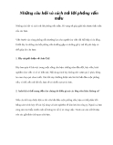 Những câu hỏi và cách trả lời phỏng vấn mẫu