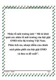 """Nhân tố môi trường ảnh """" Mô tả khái quát các nhân tố môi trường của bột giặt OMO trên thị trường Việt Nam. Phân tích ưu, nhược điểm của chính sách phân phối của bột giặt OMO và đưa ra đề xuất""""."""