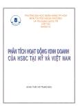 Đề tài : Hoạt động của ngân hàng HSBC ở thị trường Mỹ và Việt Nam