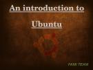 Một giới thiệu về Ubuntu