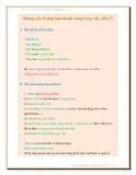Những yếu tố giúp bạn thành công trong  việc viết CV