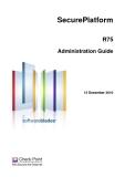SecurePlatform R75 Administration Guide