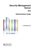 Security Management Server R75 Administration Guide