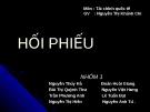 HỐI PHIẾU - GV  Nguyễn Thị Khánh Chi