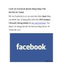 Cách vào Facebook nhanh chóng bằng USB DCOM 3G
