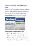 Cách vào Facebook bị 'chặn' bằng Hostspot Shield