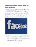 Cách vào Facebook hiệu quả nhất (Không cần dùng chương trình) oài cách vào