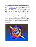 5 tiện ích mở rộng hữu hiệu dành cho Firefox 5