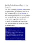 Tìm hiểu lỗi màn hình xanh chết chóc với Blue Screen