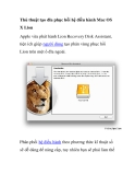 Thủ thuật tạo đĩa phục hồi hệ điều hành Mac OS X Lion