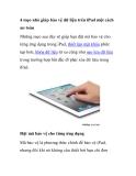 4 mẹo nhỏ giúp bảo vệ dữ liệu trên iPad một cách an toàn