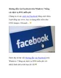 Hướng dẫn vào Facebook trên Windows 7 bằng các dịch vụ DNS miễn phí