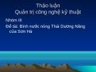 Đề tài: Bình nước nóng Thái Dương Năng của Sơn Hà