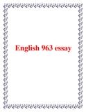 English 963 essay