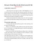 Khái quát về hoạt động của một số khách sạn tại Hà Nội