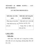 Tiết 54:BÀI  32:  HIDRO  SUNFUA  -  LƯU  HUỲNH DIOXIT LƯU HUỲNH TRIOXIT(tiết 2)