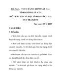 Tiết 36-37. THỰC HÀNH: KHẢO SÁT ĐẶC TÍNH CHỈNH LƯU CỦA ĐIÔT BÁN DẪN VÀ ĐẶC TÍNH KHUẾCH ĐẠI CỦA TRANZITO