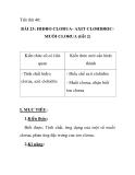 Tiết thứ 40: BÀI 23: HIĐRO CLORUA- AXIT CLOHIĐRIC MUỐI CLORUA (tiết 2