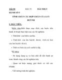 Tiết 59: HÀNH SỐ 5  BÀI 35:  BÀI THỰC  TÍNH CHẤT CÁC HỢP CHẤT CỦA LƯU HUỲNH