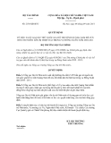 Quyết định số 2156/QĐ-BTC