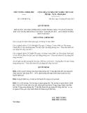 Quyết định số 1610/QĐ-TTg