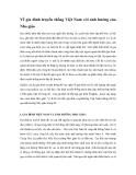 Về gia đình truyền thống Việt Nam với ảnh hưởng của Nho giáo