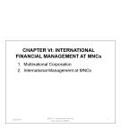 International financial management at MNCs