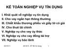 Bài 4: KẾ TOÁN NGHIỆP VỤ TÍN DỤNG