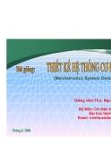 Bài giảng: Thiết kế hệ thống cơ điện tử