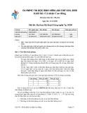 Đề thi olympic tin học sinh viên lần thứ 17 - đề 5