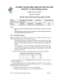 Đề thi olympic tin học sinh viên lần thứ 17 - đề 3