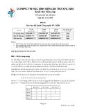 Đề thi olympic tin học sinh viên lần thứ 17 - đề 1