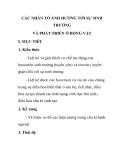 CÁC NHÂN TỐ ẢNH HƯỞNG TỚI SỰ SINH TRƯỞNG VÀ PHÁT TRIỂN Ở ĐỘNG VẬT