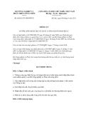 Thông tư số 60/2011/TT-BNNPTNT