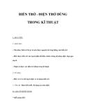 BIẾN TRỞ - ĐIỆN TRỞ DÙNG TRONG KĨ THUẬT