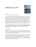 Wireshark Lab: DNS