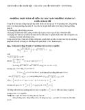 Phương pháp hàm số với bài toán phương trình chứa tham số
