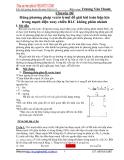 Dùng phương pháp vectơ trượt để giải bài toán hộp kín trong mạch điện xoay chiều RLC không phân nhánh