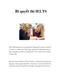 Bí quyết thi IELTS