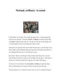 Normal, ordinary và usual