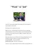 """""""Work"""" và """"Job"""""""
